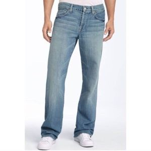 7FAM Men's Relaxed Fit  Zip Fly Jeans Size 38